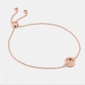 COACH rose gold bracelet♡